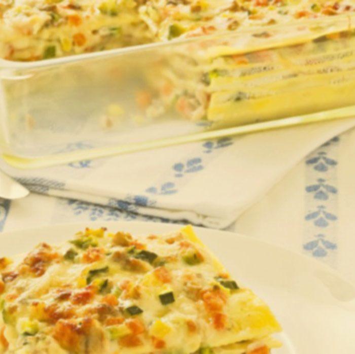 Lasagne con ragù e verdure